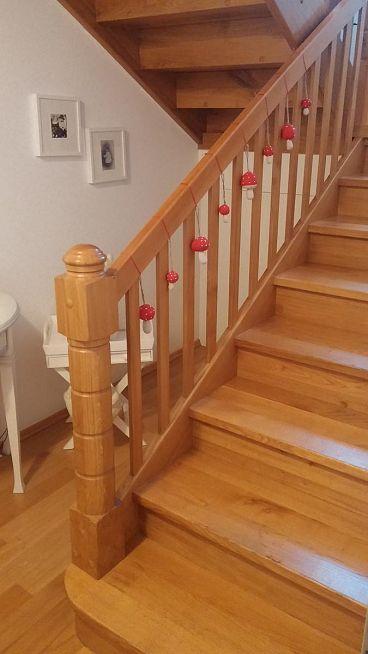 Ograjni zaključek lesenih stopnic